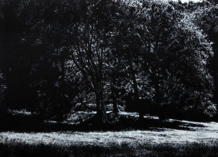 Art Alarm – Jochen Hein, Park, 2016, Acryl auf Baumwolle, 130 x 180 cm, Courtesy Galerie Thomas Fuchs