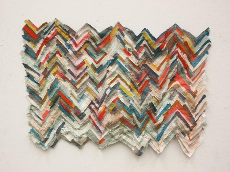 Art Alarm – Andrea Myers, o.T. Textile Installation, variable Größe, 2019