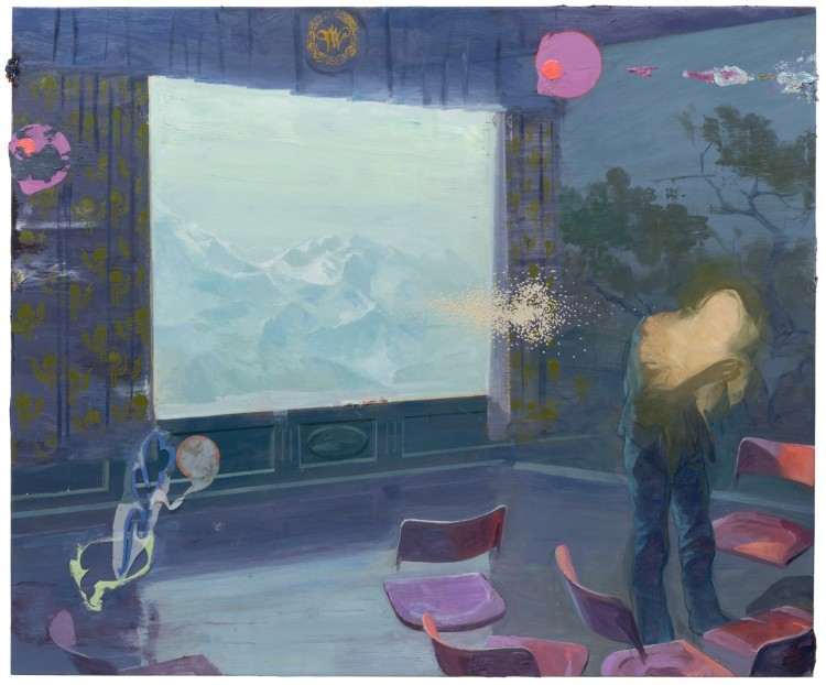 Art Alarm – Ruprecht von Kaufmann, Der letzte Akt, 2019, Öl auf Linoleum auf Holz, 153 x 184 cm, Courtesy Galerie Thomas Fuchs, Foto: Stefan Maria Rother