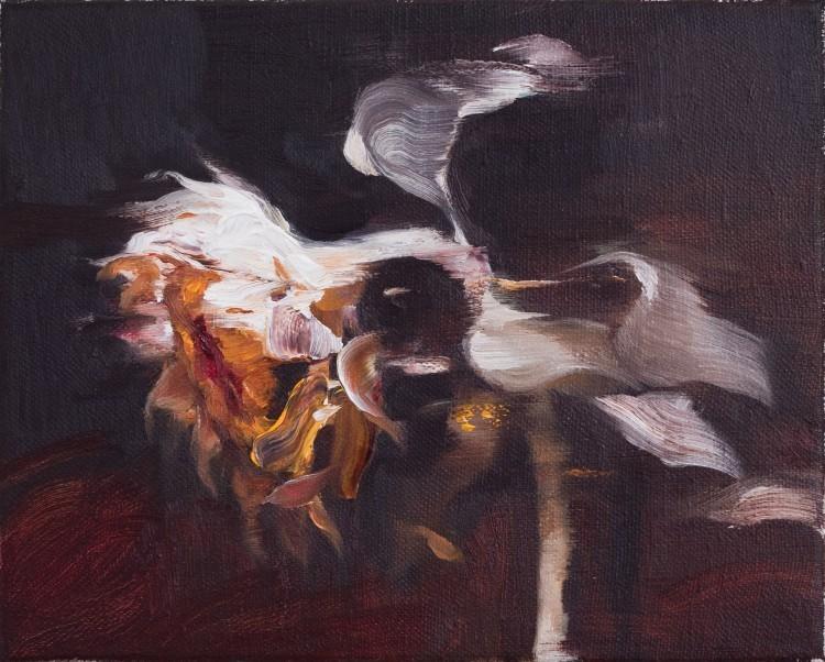Art Alarm – Yongchul Kim, Sonnenblume, 2020, Öl auf Leinwand, 20 x 25 cm