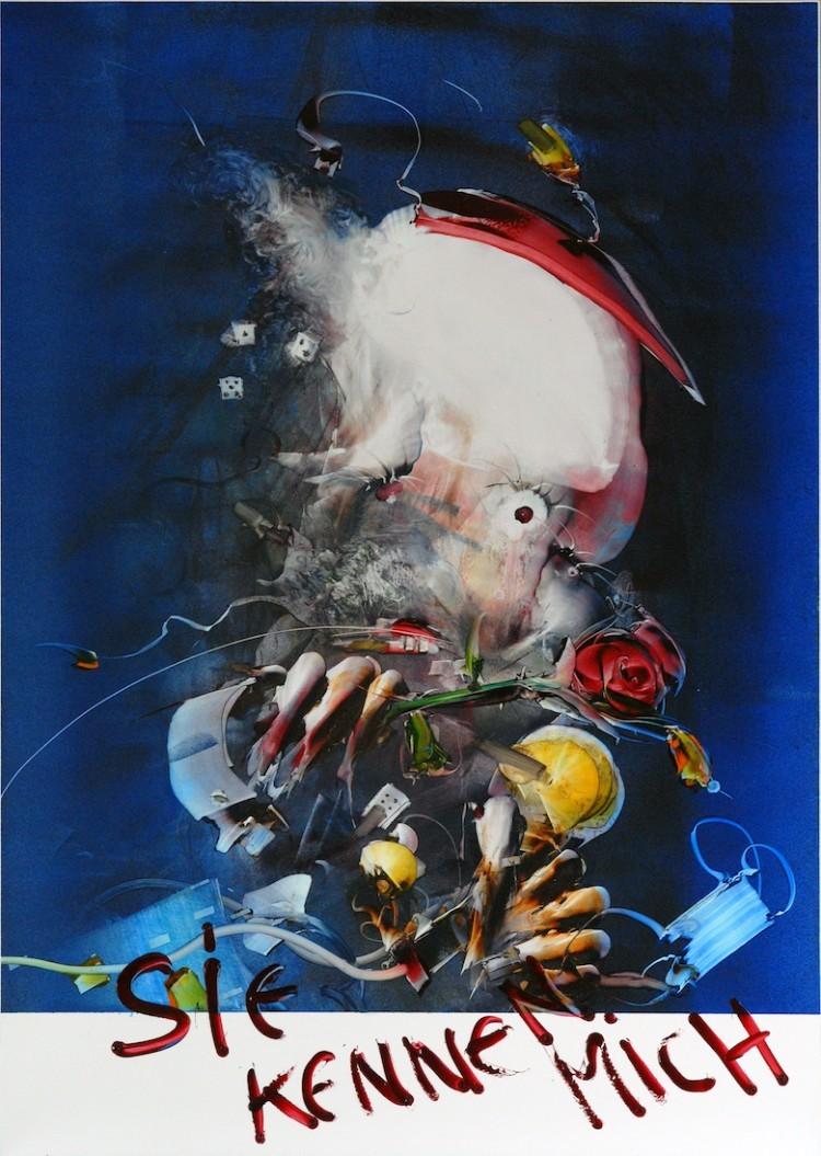 Art Alarm – Gerhard Neumaier, Die Mummerei, Öl auf Simopor, 2021, 100x70 cm