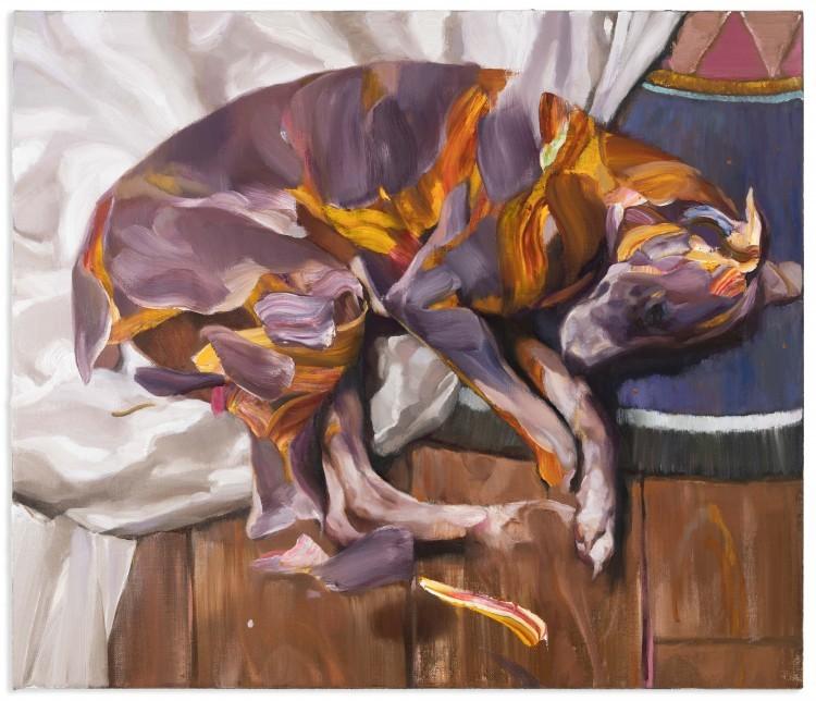 Art Alarm – Yongchul Kim, Hund, 2021, Öl auf Leinwand, 60 x 70 cm